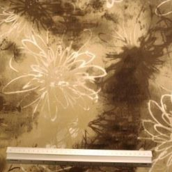Cotton Spandex Fabric Dust Flower Smudge Beige