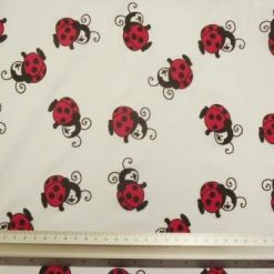 T-Shirting Fabric Lady Bird white