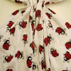 T-Shirting Fabric Lady Bird white