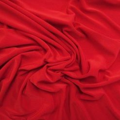 Lycra Fabric Skin Thin Red Spandex