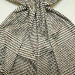Jersey Fabric Dogtooth Check Cream
