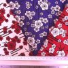 Cotton Fabric Japanese Pansy