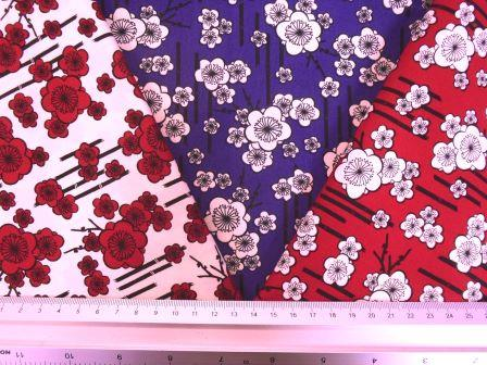 Cotton Fabric Japanese Pansy