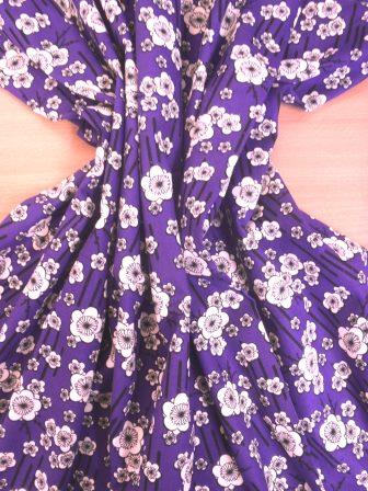 Cotton Fabric Japanese Pansy purple