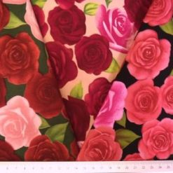 Cotton Fabric Beautious Rose Floral Design