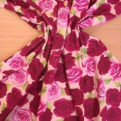 Cotton Fabric Beautious Rose Floral Design rose gold