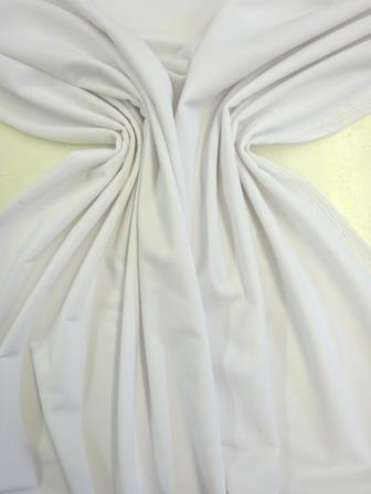 Lycra Fabric Matt Plain White
