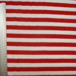 Stretch Towelling Fabric Stripes red/white
