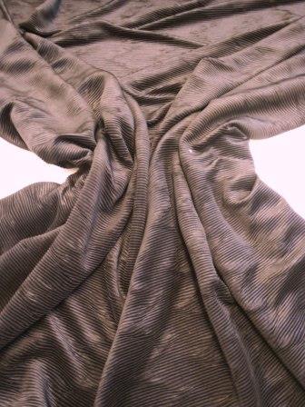 Black Crepe De Chine Fabric Crinkle