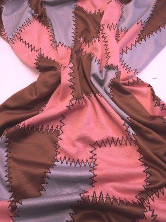 Jersey Fabric Zig Zag Patchwork