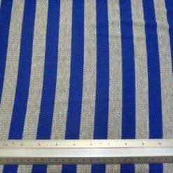 T-Shirting Fabric Royal Grey Stripe