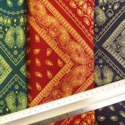 Viscose Rayon Printed Fabric Bandana Havana