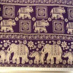Viscose Print Elephant Mantra Purple