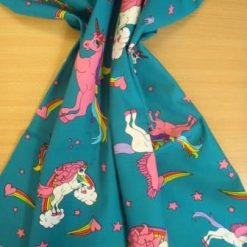Cotton Fabric Unicorns Extra Large 100% Cotton Teal