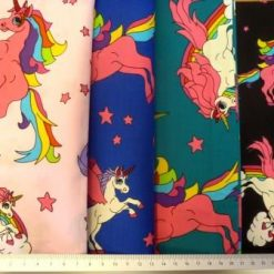 Cotton Fabric Unicorns Extra Large 100% Cotton