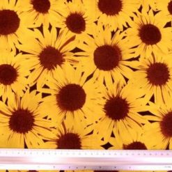 Yellow Cotton Fabric Sunflower Frenzy 100% Cotton
