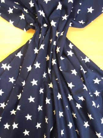 navy blue movie star cotton