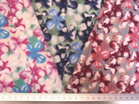 Cotton Fabric Floral Forget Me Not