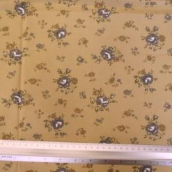 Cotton Fabric Floral Rose Choice grey