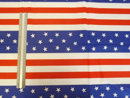 Cotton Fabric Stars And Stripes USA