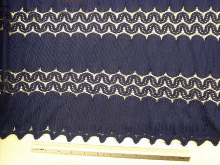 Navy Lace Fabric Flapper
