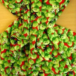 Cotton Fabric Christmas Festive Sprouts Red