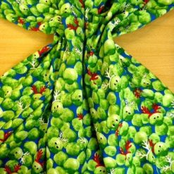 Cotton Fabric Christmas Festive Sprouts Royal