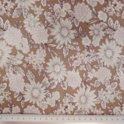 Cotton Fabric Flower Millionaires 100% Cotton beige nude