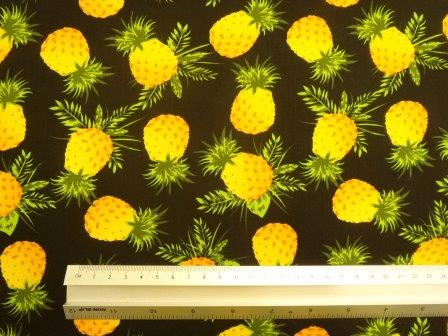 Cotton Print Fabric Pineapple Crush