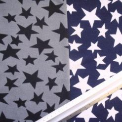 Winter Jersey Fabric Stars