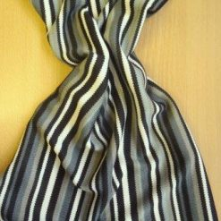Jersey Fabric Chain Saw Stripe grey