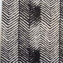 Jersey Fabric Tyre Tracks black/white