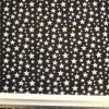 Winter Jersey Fabric Baby Stars black