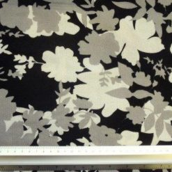 Winter Jersey Fabric Shadow Flowers grey
