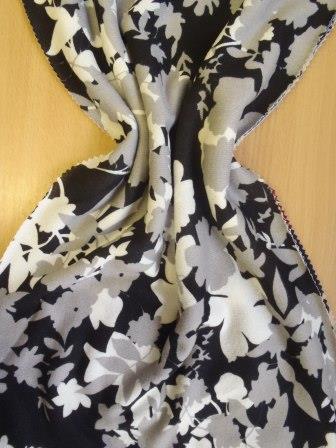 Winter Jersey Fabric Shadow Flowers grey