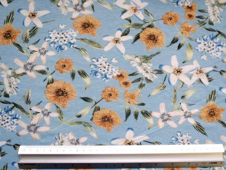 T-Shirting Fabric Moana Flower