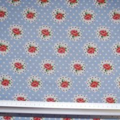 T-Shirting Fabric Spot The Rose pale blue