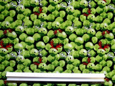 Black Suiting Fabric Polyester Christmas Party Sprouts