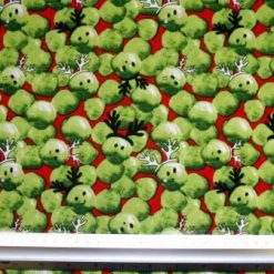 Red Suiting Fabric Polyester Christmas Party Sprouts