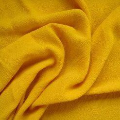 Crepe Fabric Mustard Pebble Crepe