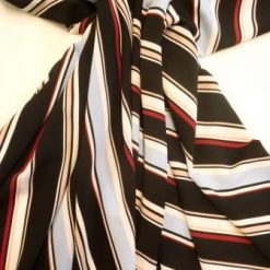 Crepe De Chine Fabric Vertical Stripes Like Me
