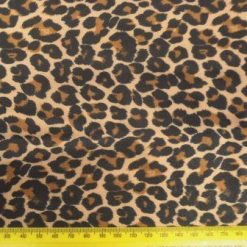 Lycra Patterned Fabric Leopard