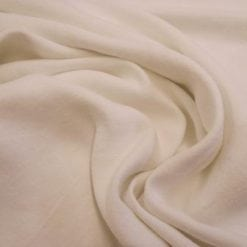 Linen Suiting Fabric Soft Pure White