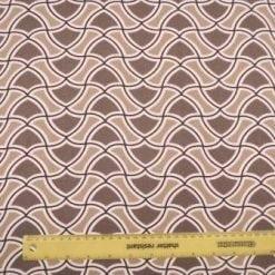 Linen Look Suiting Geometric Rhapsody