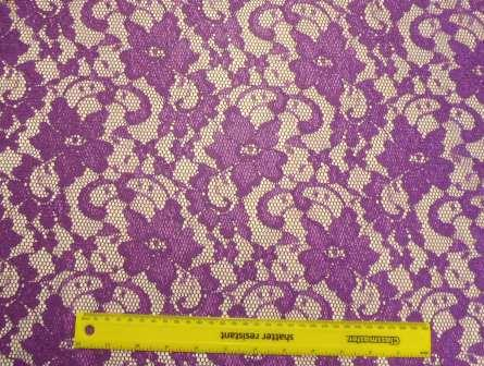 Lace Fabric Purple Barbie