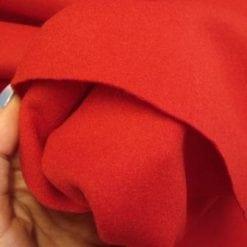 Melton Coating Fabric red