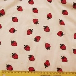 T-shirting Fabric Strawberry Fields