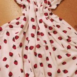 T-shirting Fabric Strawberry Fields