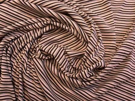 T-shirting Fabric Pink Swizzle Stripe