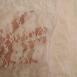 Lace Fabric White Stretch